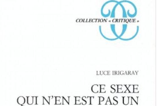 Détails © Luce Irigaray, Ce sexe qui n'en est pas un, éditions de Minuit, Paris, 1977.